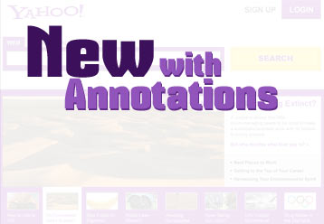 Link for New Yahoo Homepage with Annotations